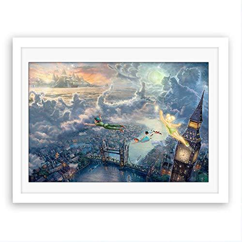Rjjwai Sin Marco Peter Pan Volando Sobre La Ciudad De Londres Panorama Hd...