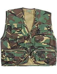 Niños camuflaje Multi bolsillo combate ejército para niños chaleco ropa uniforme de Cadetes