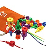 SHAWE Peg Set by Fine Motor Toy for Toddlers and Preschoolers Occupational Therapy Montessori Color Recognition Sorting (COLORFUL PEGS-40PCS)