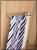 Twin rail tie rack Chrome by Fitmykitchen - Best Reviews Guide
