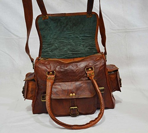 "Messenger of Leather , Borsa Messenger  marrone Brown 9"" x 12"" x 4"" Brown"