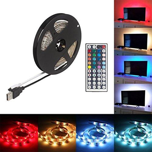 Vindar TV USB retroiluminación tira impermeable LED tira de luz 78.7en/6.56ft 60LEDs...