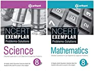 NCERT Exemplar Problems-Solutions for Science / Mathematics class 8 (Set of 2 books)