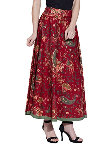 Maxi Rock Lang Knöchel Länge Zigeuner Baumwolle Kleid Sommer Color14