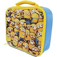 Kinder Lunch-Box / Lunch-Tasche / Brotzeit-Tasche mit Minions Design, isoliert (Einheitsgröße) (Gelb/Blau) - preisvergleich