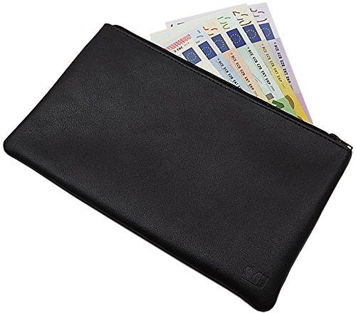 Cuir de vachette pochette bancaire 1 compartiment...