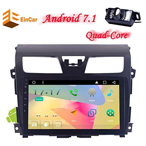 EINCAR Android 7.1 Betriebssystem Nissan Altima (2014-2016) 4-Core-CPU NO-DVD Autoradio-Stereo GPS Kamera EQ Sieben-Farben-LED Key Touch-Screen-Spiegel-Link-Bluetooth WiFi AUX AV IN Whee Ste (System Radio Nissan Altima)