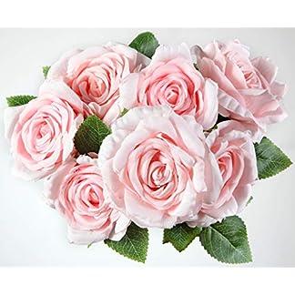 Bogas Cosmetics Ramo de Rosas Artificiales Premium para decoración de hogar, Bodas, restaurantes, hoteles y Eventos Diversos. Máxima Calidad.