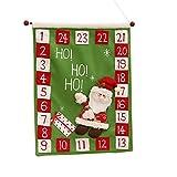 happy event Weihnachten alter Mann Schnee Mann Hirsch Kalender | Advent Countdown Kalender (Grün)