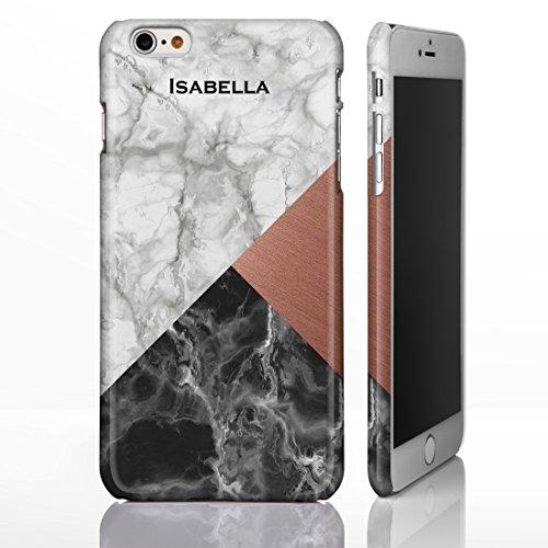 personalisierbar Marmor Mix Schutzhülle für iPhone Modelle. Marmor, Onyx und Holz Mix Designs, plastik, Marble 1: White Marble with Pink Base, iPhone 5C - Slim Case Marble 9: White, Copper, Black