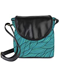 Snoogg Seamless Waves Texture Womens Sling Bag Small Size Tote Bag