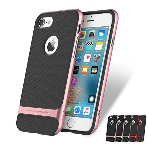 iPhone 7 Hülle - Maikai® Rock Royce Hybrid Case für iPhone 7 Handy Tasche Bumper Schutz Hülle - Rose Gold