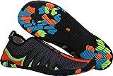 Gaatpot Scarpe da Spiaggia e Piscina Donna Uomo Calzini Acqua Immersione Scarpette da Scoglio Surf per Sport Acquatici Unisex - Adulto Nero(Black) 39