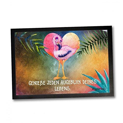 35 x 50 Fußmatte Flamingo Capri Genieße jeden Augenblick deines Lebens Einweihungsgeschenk Geschenk für Einweihung Fußabtreter Türmatte