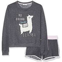 New Look 915 Girl's 5943506 Pyjama Sets, (Dark Grey), Large (Manufacturer Size:104)