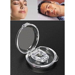 GKA Magnet Schnarchstopper Anti Schnarchen Nase Klemme Schnarchfrei Klammer Silikon Therapie Antischnarch Slumber Nasenklammer