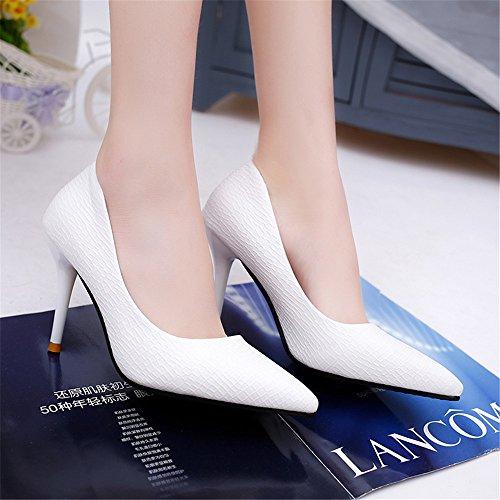 TMKOO 2017 nouvelles chaussures de l'automne ont fait des super chaussures enfant talons hauts fines avec des célibataires peu profondes de la bouche Blanc