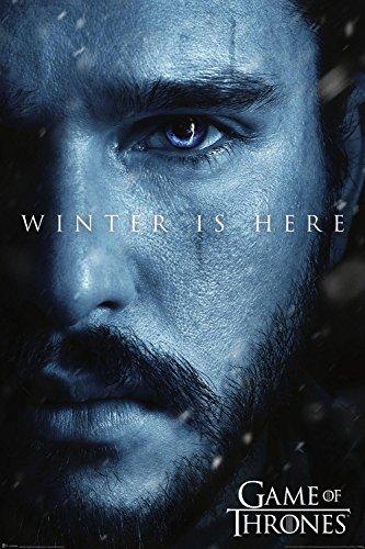 Póster Games of Thrones - Winter is Here/Jon Snow [7ma. Temporada] (61cm x 91,5cm)