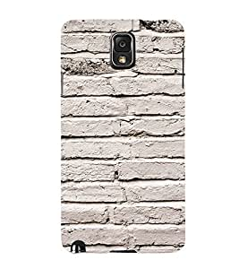 EPICCASE white wall Mobile Back Case Cover For Samsung Galaxy Note 3 (Designer Case)
