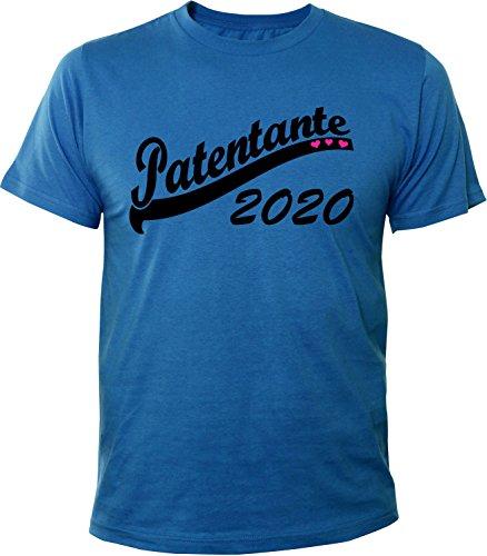 Mister Merchandise Herren Men T-Shirt Patentante 2020 Tee Shirt bedruckt Royal