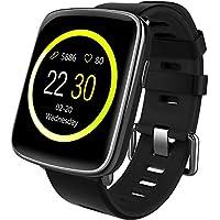 Willful smartwatch con Pulsómetro,Impermeable IP68 Reloj inteligente,Fitness Tracker con cronómetro, Monitor de sueño,monitor de ritmo cardíaco,Podómetro, Contador de caloría,calendario,control remoto de música,Pulsera Actividad pulsera inteligente para Android y IOS(negro)
