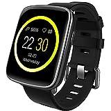 Willful Smartwatch con Pulsómetro,Impermeable IP68 Reloj Inteligente con Cronómetro, Monitor de sueño,Podómetro,Calendario,Control Remoto de música,Pulsera Actividad para Android y iOS (Negro)