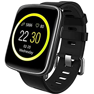 Willful Smartwatch con Pulsómetro,Impermeable IP68 Reloj Inteligente con