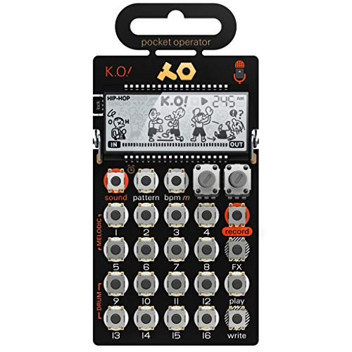 Teenage Engineering PO-33 K.O! Pocket Operator Synthesizer Portable Micro Sampler (Line-In, Mikrofon, Melodie- & Drum-Slots, Stepsequencer)