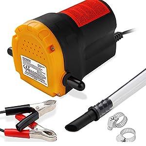 Monzana Ölabsaugpumpe 12V 80 Watt 5l/min - Ölpumpe Absaugpumpe Pumpe Dieselpumpe Öl elektrisch