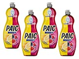 Paic Boost Liquide Vaisselle Citron/Fruit Rouge 750 ml - Lot de 4