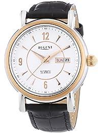 Regent  - Reloj Analógico de Automático para Hombre, correa de Cuero color Negro