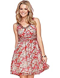 Ladies Sleeveless Floral Dress in Women's Size 10 - 16