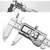 Calibres Digitales - JUNING Pinza digital electrónica de acero inoxidable de 150 mm, medición precisa y rápida, lectura fácil