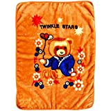 LeMaDrid Super Soft Baby Blanket With Cute Teddy Bear Print, 1-3Years, Golden