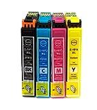 Kombipack 4 x Kompatible Tintenpatrone ersetzt Epson 18XL schwarz, cyan, magenta, gelb