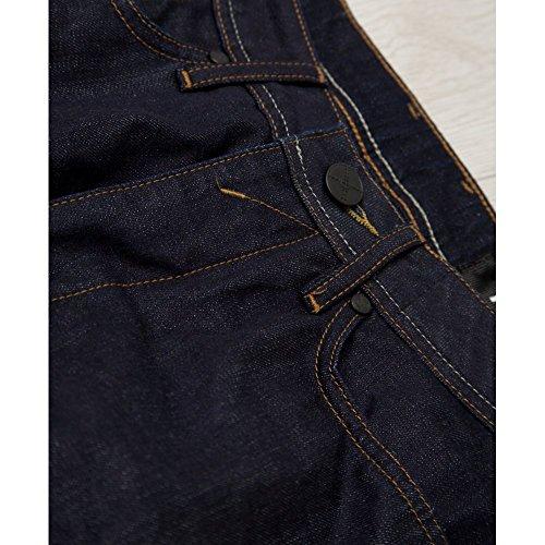 Foray Long Fit Jeans Denim Blue Blau - Savage   Raw