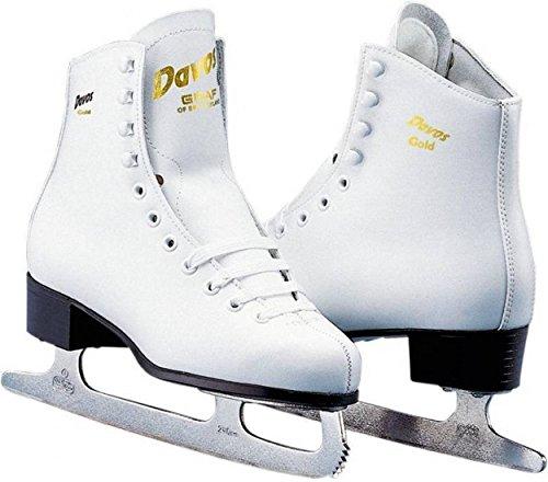 Davos Gold - Eiskunstlauf junior weiß Größe 28