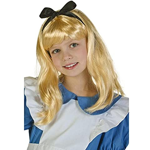 DZW Damen Storybook Alice Blonde Perücke Fairytale Fancy Dress, Gilt für dress up prom , children