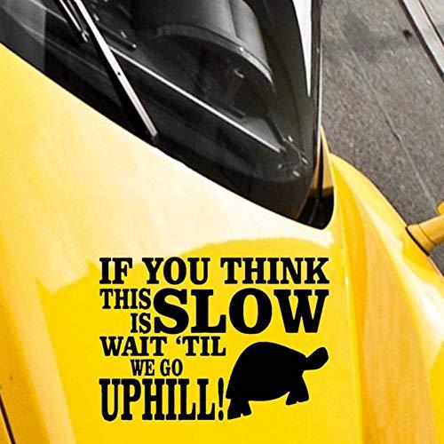 CTHK Autoaufkleber Ich gehe langsam bergauf lustige Schildkröte unhöflich Autofenster Stoßstange Grafik Vinyl Aufkleber Aufkleber -