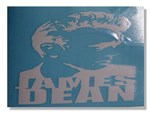"Preisvergleich Produktbild JAMES DEAN Profile with Logo, Officially Licensed Artwork, NonToxic Exceptional Quality 5.25"" x 7.25"" Rub On Sticker Aufkleber"