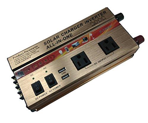 400W/750W/Wechselrichter + Solar/AC Ladegerät Controller integrierte Kit AC DC 12V USB Solar Panel