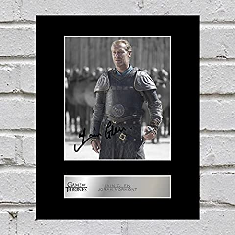 Iain Glen Photo dédicacée encadrée Jorah Mormont (Vaud) – Game of Thrones