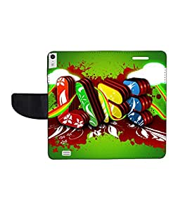 KolorEdge Printed Flip Cover For Gionee Elife S5.5 - Multicolor(50KeMLogo7903GioneeS5.5)