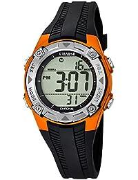 Calypso Watches Damen Armbanduhr Digitaluhr mit 3 Alarmen Orange/Silbern K5685/7