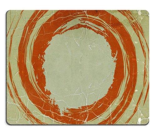 MSD Naturkautschuk Mousepad Bild 22367057Scary Jack O Laterne Halloween Kürbis auf trockene Blätter 4430