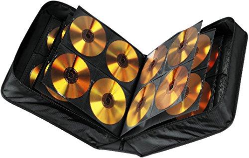 Hama CD Tasche mit Pflegetuch für 304 Discs / CD / DVD / Blu-ray (Mappe zur Aufbewahrung , platzsparend für Büro, Wohnzimmer und Zuhause, Transport-Hüllen) Schwarz (Possibles Tasche)