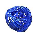 SanKidv Schleim Schlamm Fluffy Floam Slime Duft Stress Relief Erwachsene Junge Leute Spielzeug Schlamm Spielzeug mit Bunt Kleiner Ball (Blau)