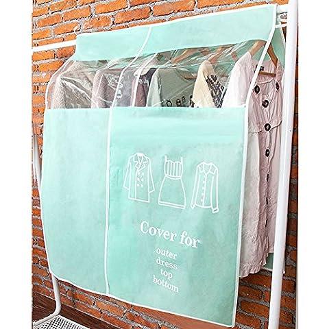 listen2u Borse Covers vestiti vestiti protezione widening spessi tessuto abbigliamento Dust Cover Visual Hanger, Blue