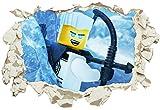 Unified Distribution Lego - Ninjago - Zane - Be Ice - Wandtattoo mit 3D Effekt, Aufkleber für Wände und Türen Größe: 92x61 cm, Stil: Durchbruch