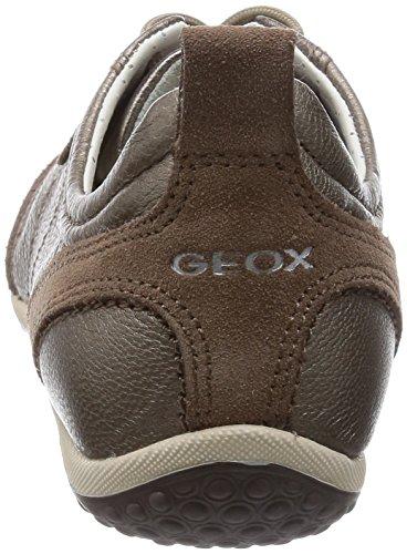 Geox D Vega A, Baskets Basses Femme Braun (TAUPEC6029)
